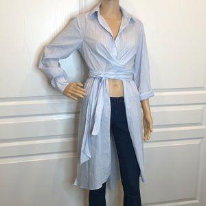 ASTR Strip Wrap Shirt Dress Size XS
